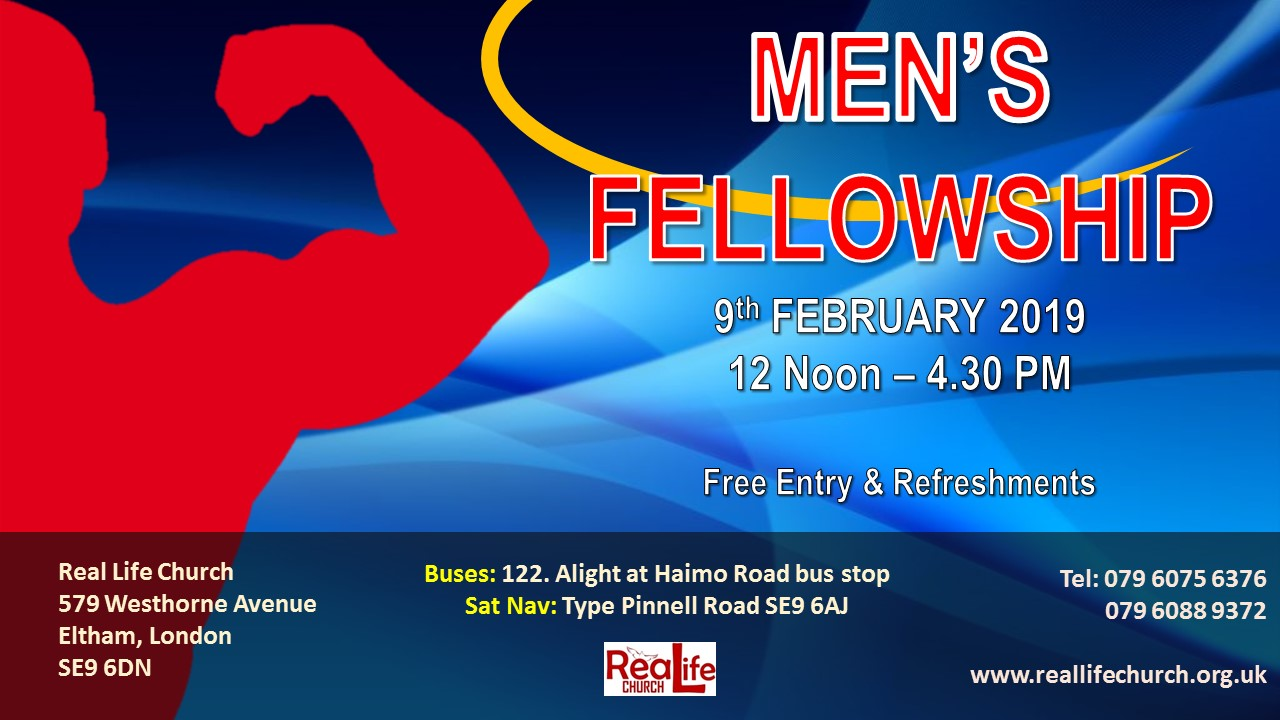Men's Fellowship at Real Life Centre