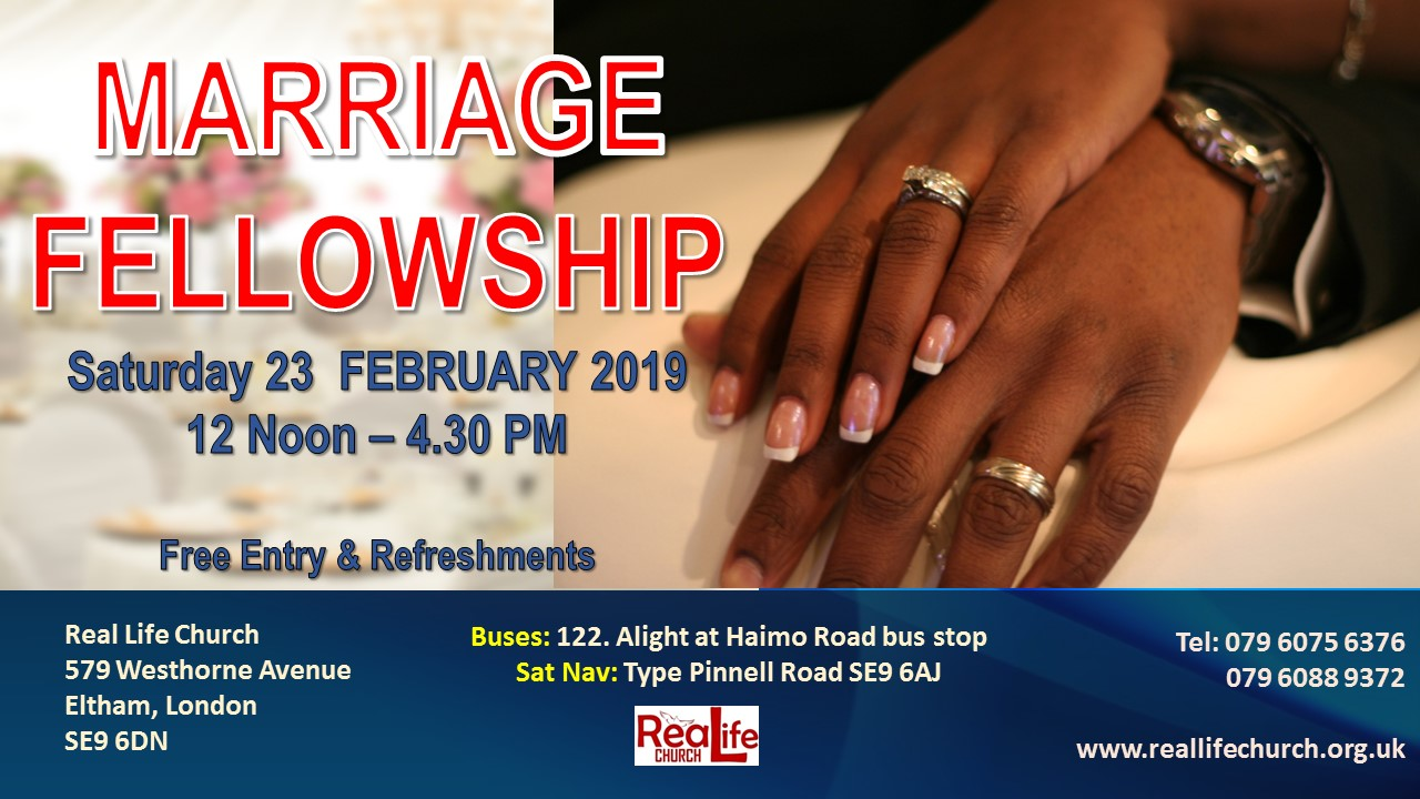 Marriage Fellowship at Real Life Centre